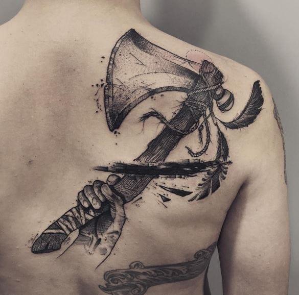 Black work tattoos