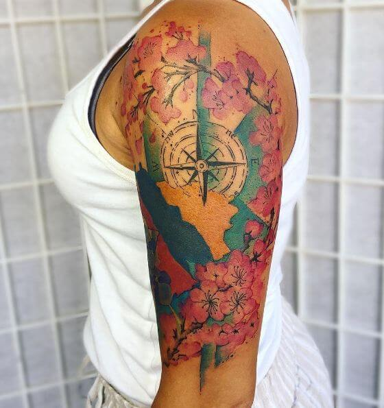 250 Japanese Cherry Blossom Tattoo Designs With Meanings Symbolism 2020