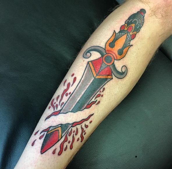 dagger tattoos