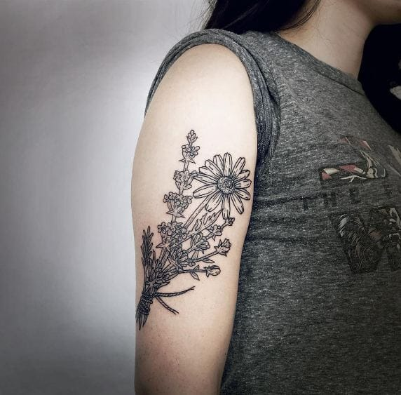 Lavender Flower Tattoos