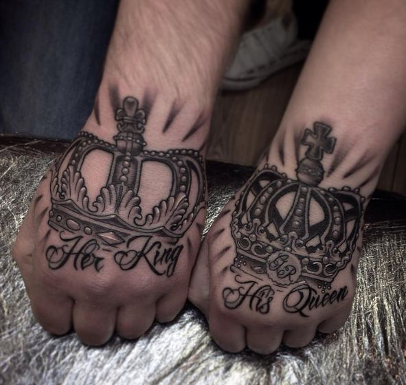 3d King And Queen Tattoos