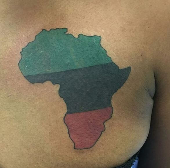 African Colored Tattoos Design