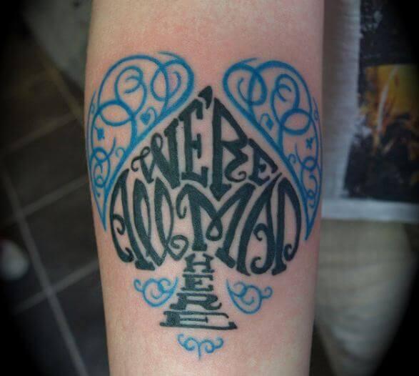 Alice In Wonderland Tattoos Designs
