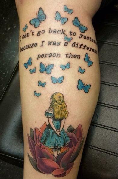 Alice In Wonderland Tattoos Quotes