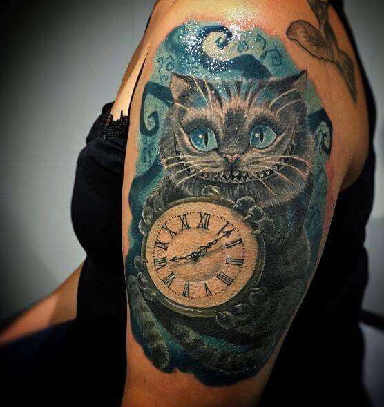 Alice In Wonderland Tattoos For Sleeve
