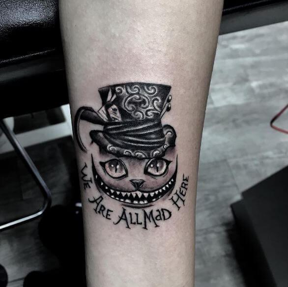 Alice In Wonderland Tattoos On Arm