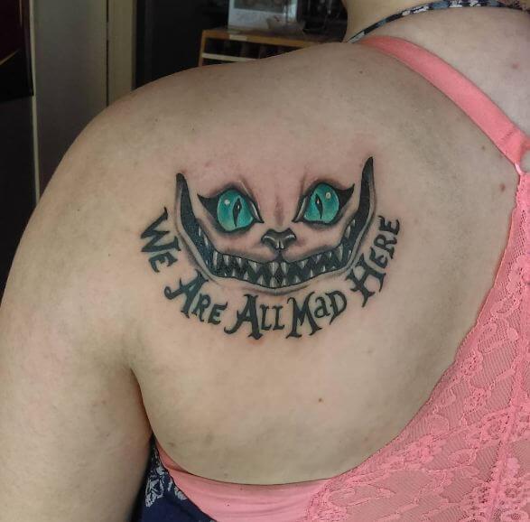 Alice In Wonderland Tattoos On Shoulder