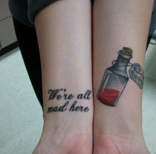 Alice In Wonderland Tattoos On Wrist