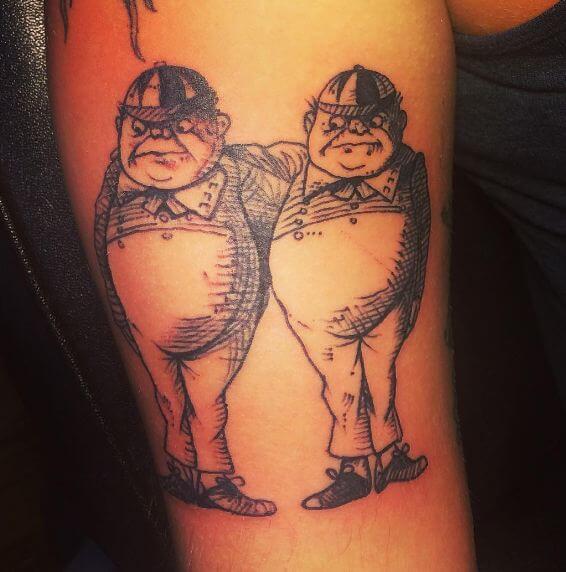 Alice In Wonderland Tweedledum Tattoos