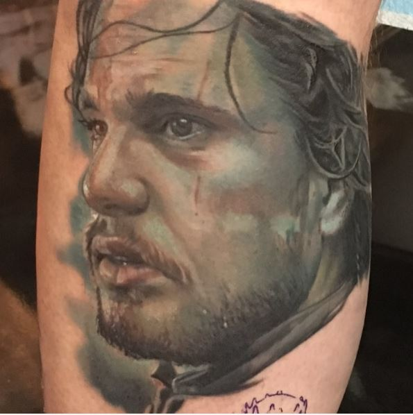 Awesome Game Of Thrones Tattoos Design On Legs
