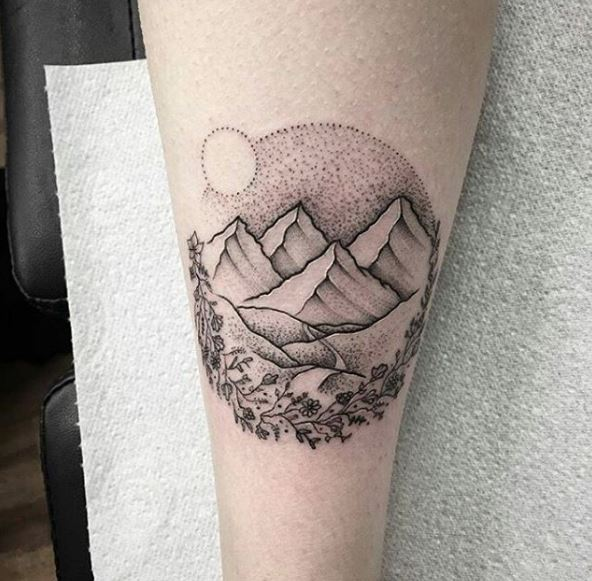 Awesome Landscape Tattoos Design For Men