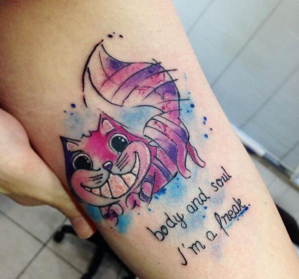 Beautiful Alice In Wonderland Tattoos
