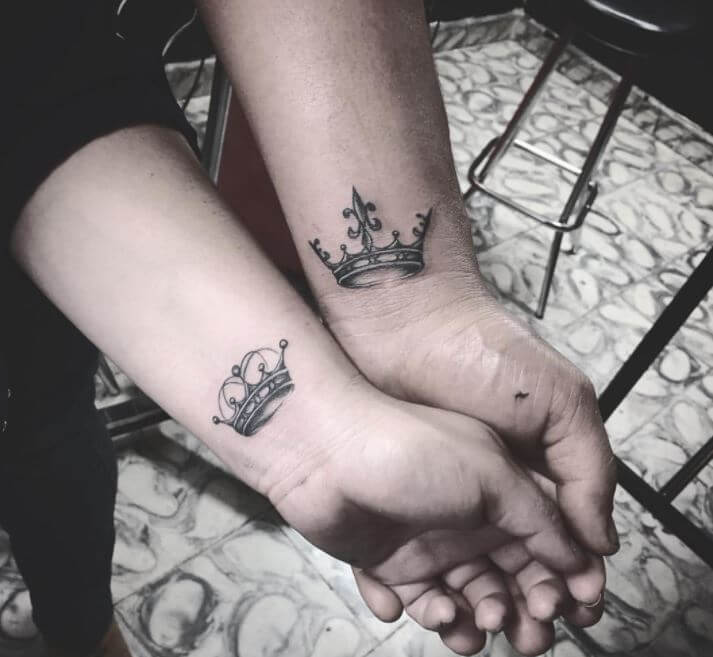 Beautiful King And Queen Tattoos
