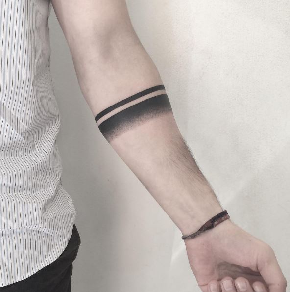 Black Ballet Bracelet Tattoos Design