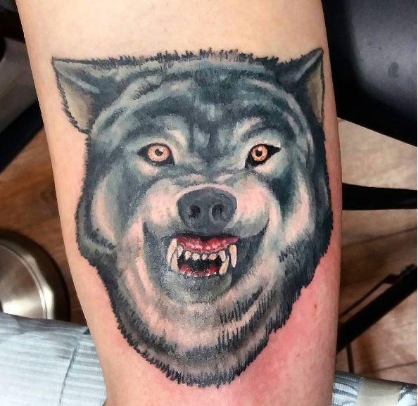 Black Wolf Tattoos Design On Game Of Thrones
