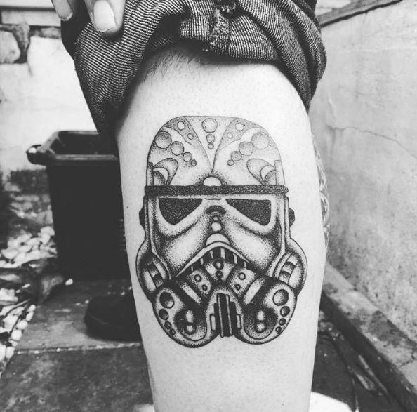 Black And White Star Wars Tattoos Design