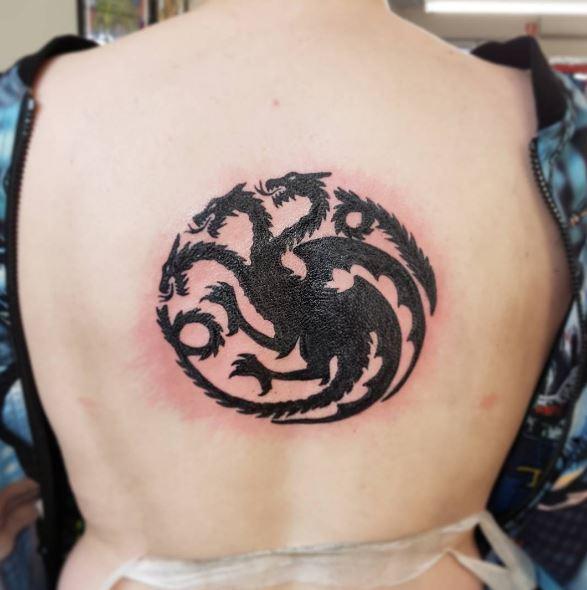 Black Color Dragon Tattoos Design And Ideas
