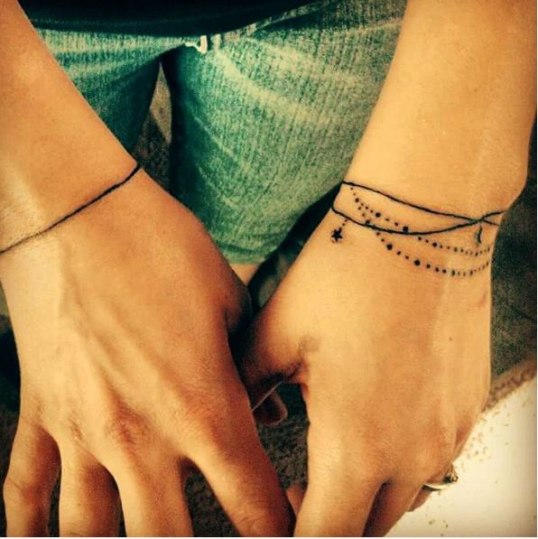 Bracelet Tattoos On Wrist