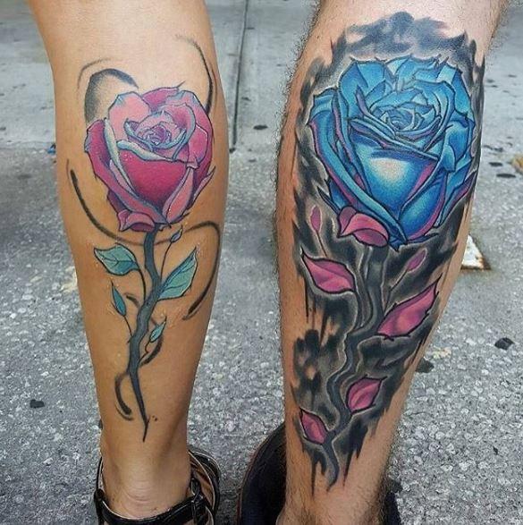 Calf Tattoo 11