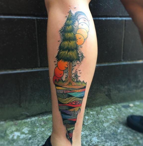 Calf Tattoo 17