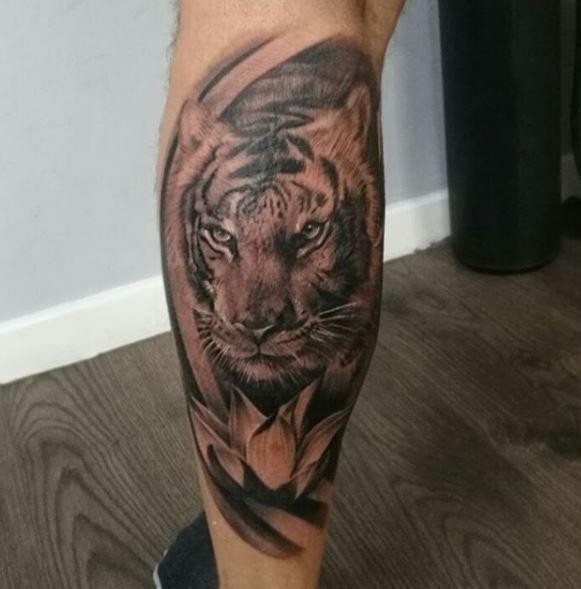 Calf Tattoo 22