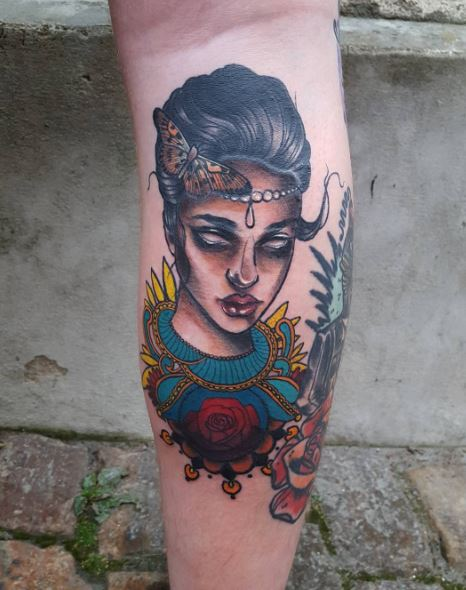 Calf Tattoo 31