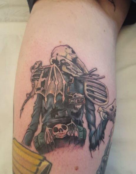 Calf Tattoo 36