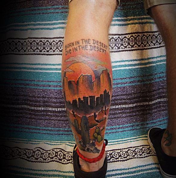 Calf Tattoo 40