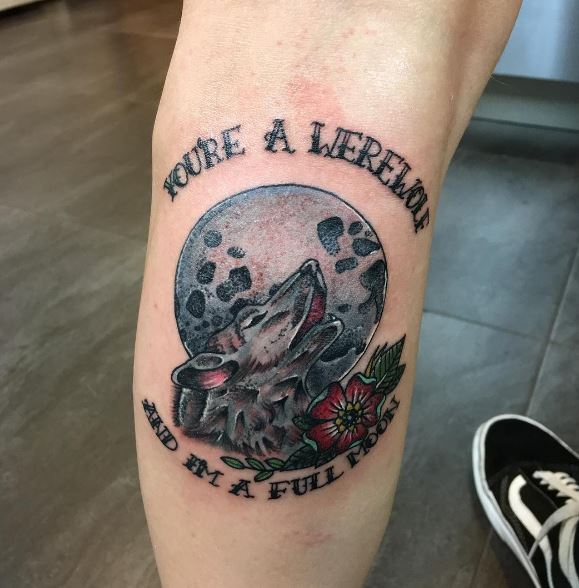 Calf Tattoo 42