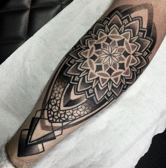 Calf Tattoo 43