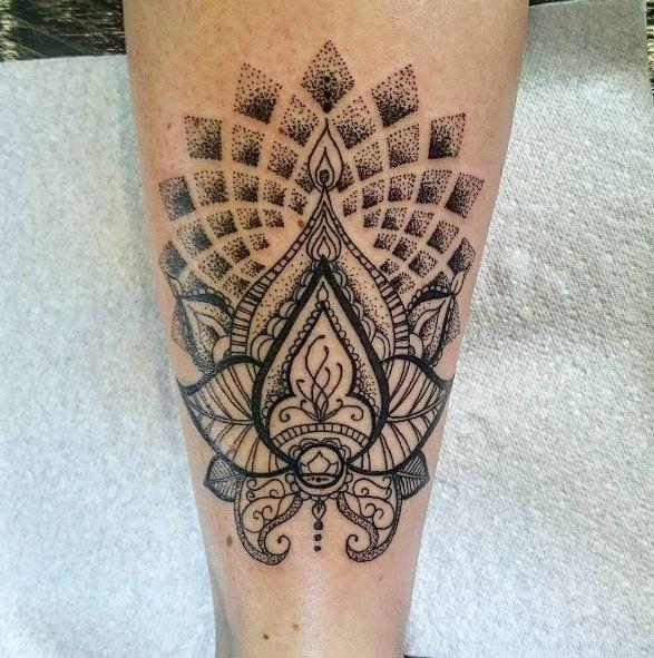 Calf Tattoo 44