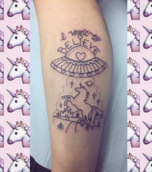 Calf Tattoo 45