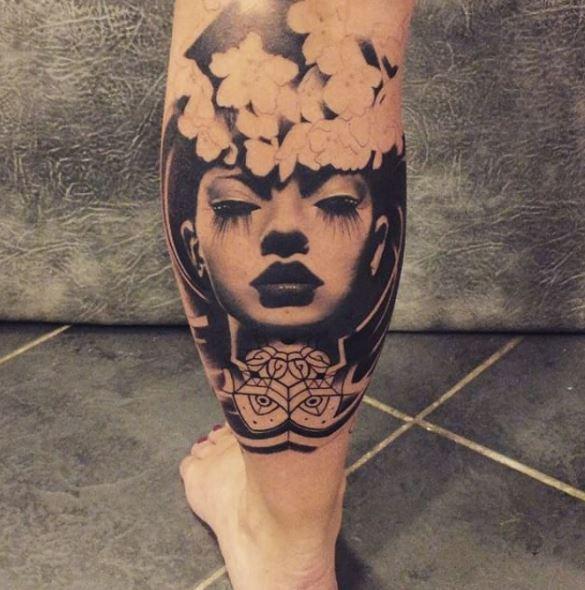 Calf Tattoo 61