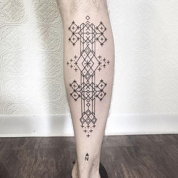 Calf Tattoo 65