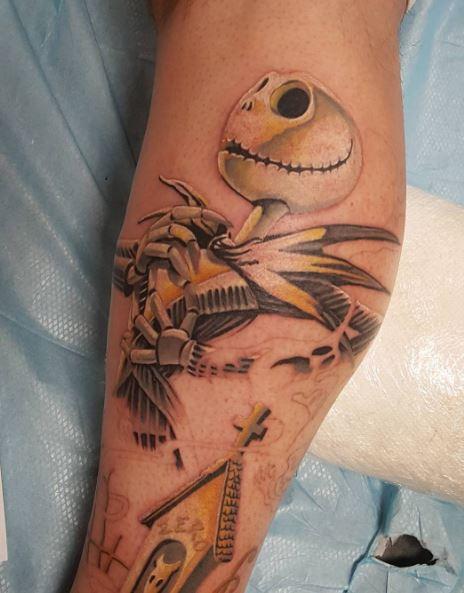 Calf Tattoo 66
