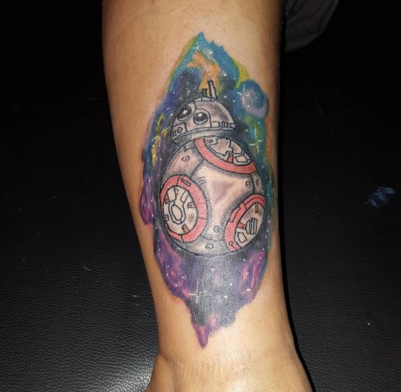 Colored Star Wars Tattoos Robot Design And Ideas