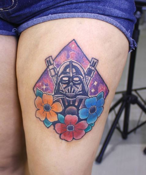 Darth Vader Tattoos Design On Thigh