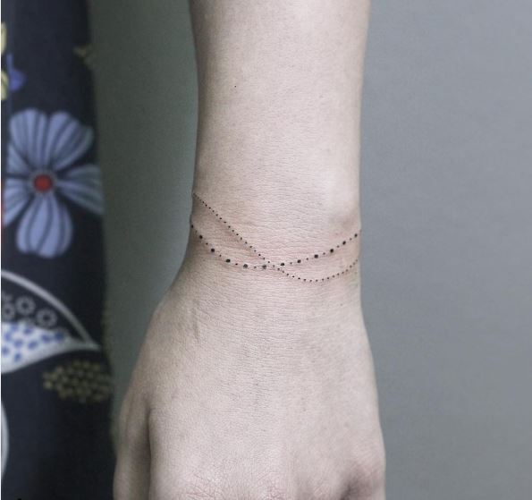 Dot Bracelet Tattoos Design And Ideas