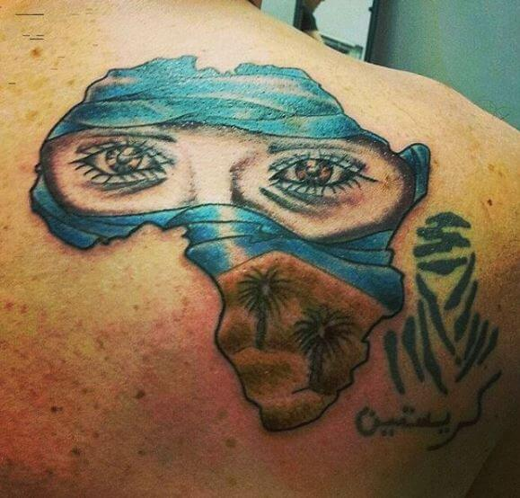Eye And African Map Tattoos Design And Ideas