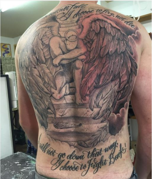 heaven and hell tattoos