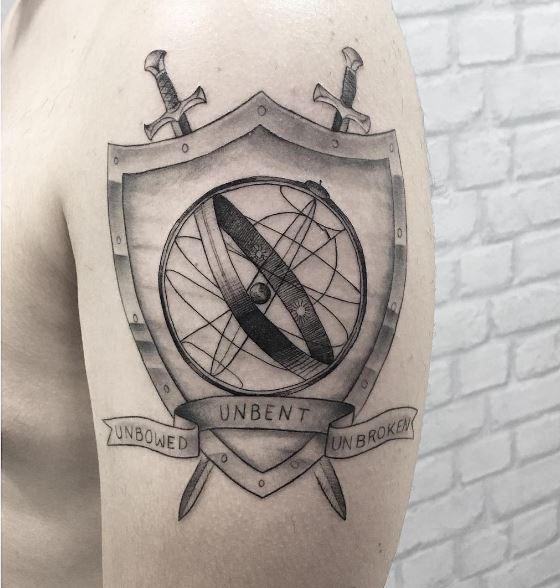 Game Of Thrones Hand Sword Tattoos Design On Biceps