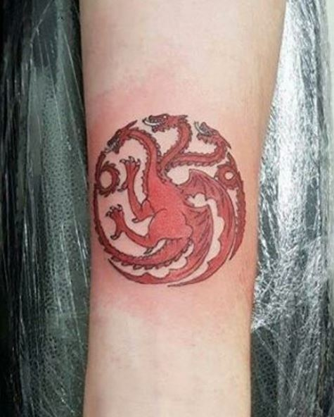Game Of Thrones Dragon Tattoos Design And Ideas