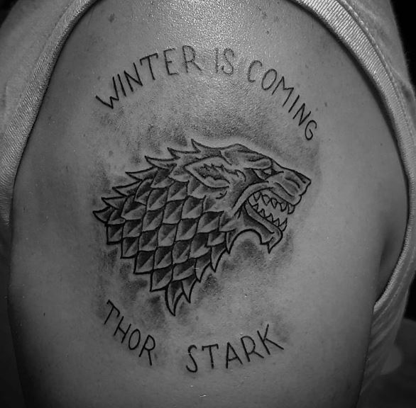 Game Of Thrones Winter Is Coming Lion Tattoos Design