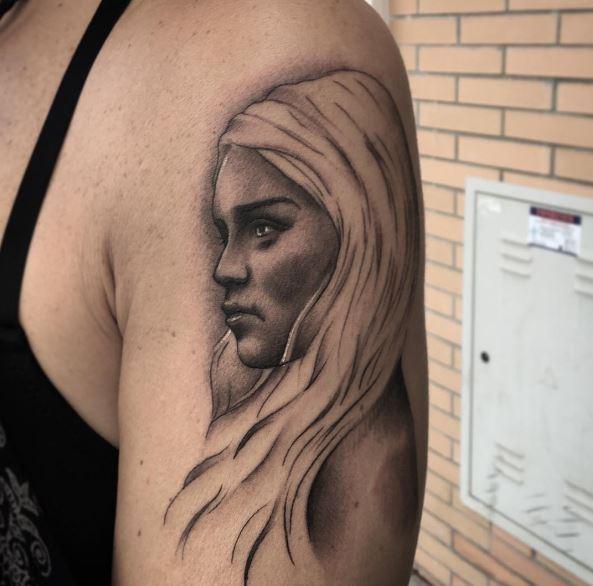 Game Of Thrones Women Tattoos Design On Biceps