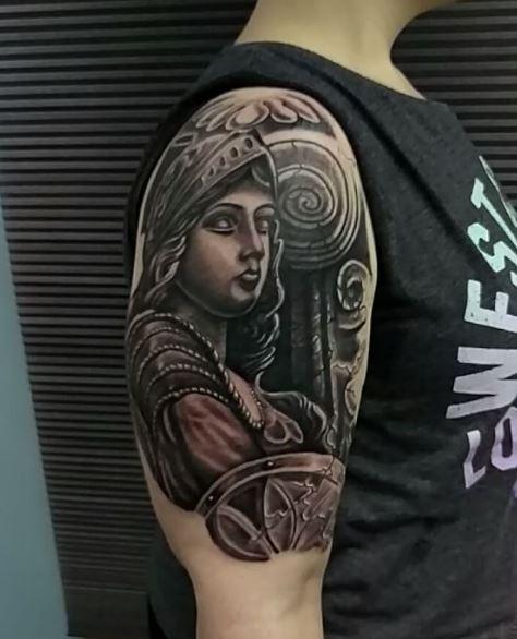 Greek Tattoo On Arm 10