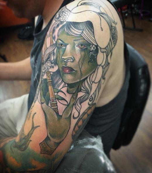 Greek Tattoo On Arm 11