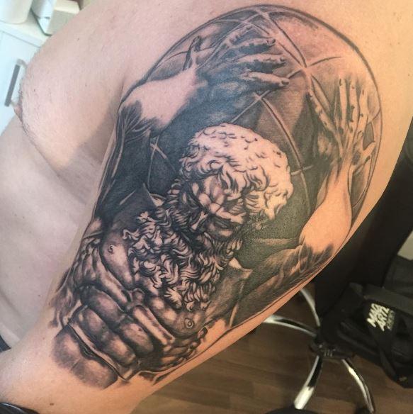Greek Tattoo On Arm 18