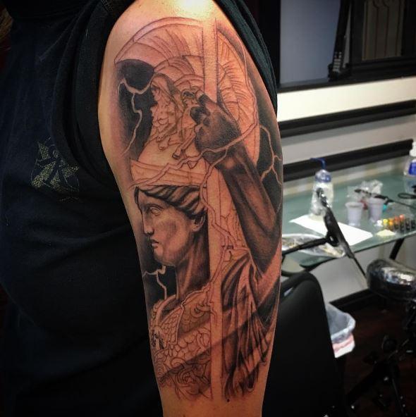 Greek Tattoo On Arm 21