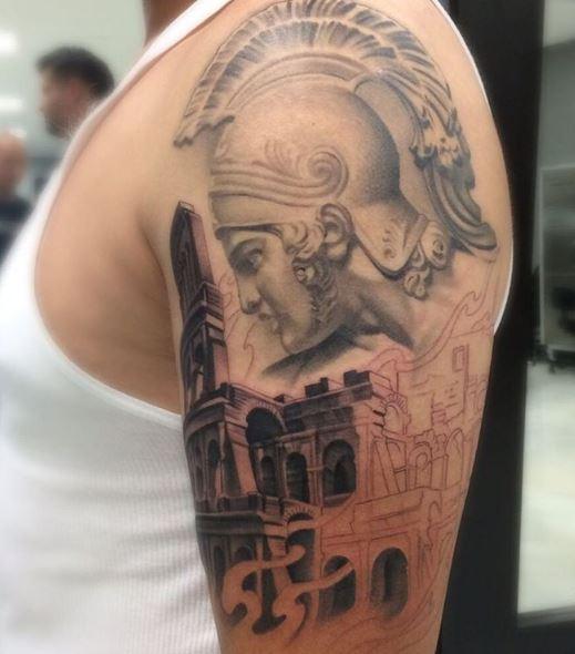 Greek Tattoo On Arm 27