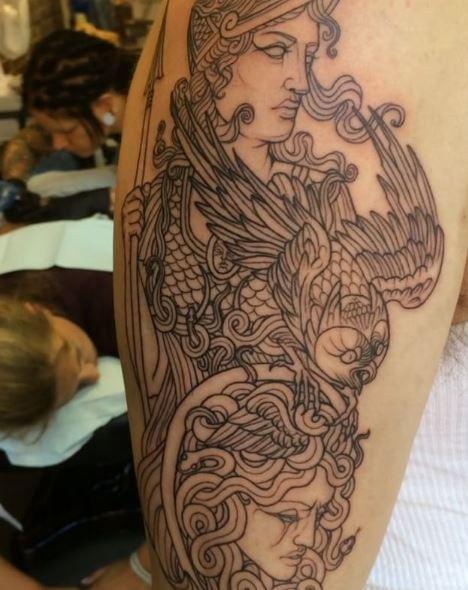 Greek Tattoo On Arm 32